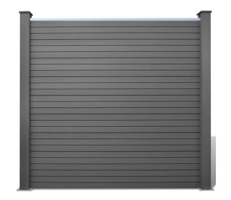Vidaxl pannelli recinzione da giardino 3 pz wpc grigio 538 for Pannelli recinzione giardino