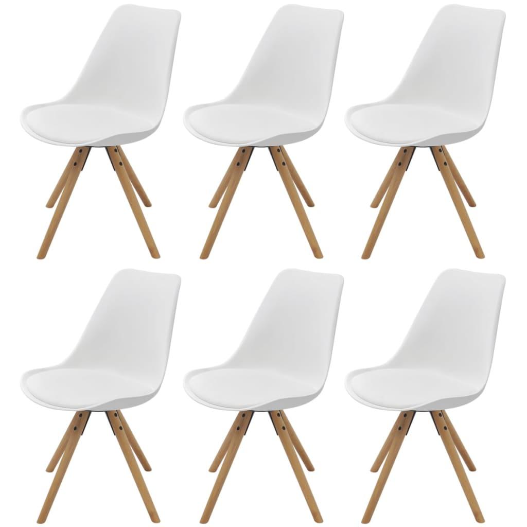 vidaXL 6 db fehér műbőr étkező székek