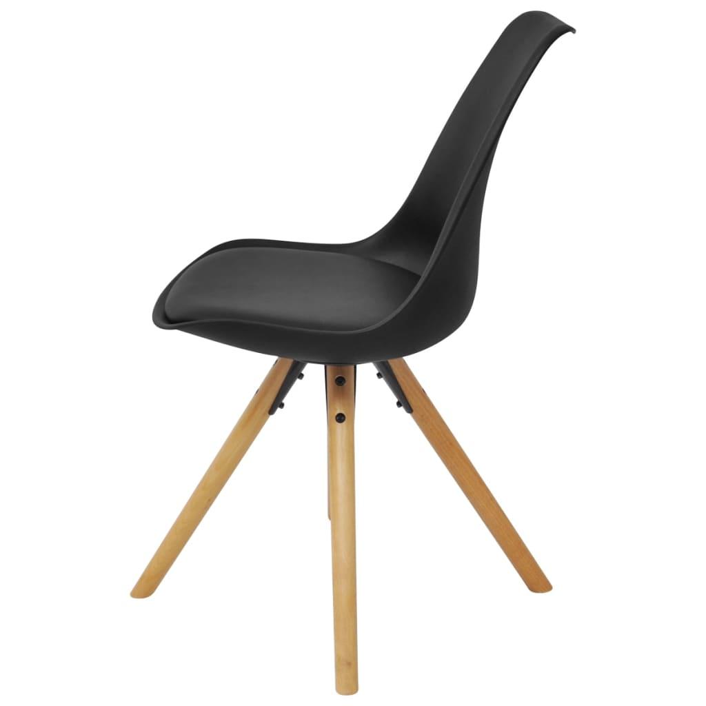 Acheter vidaxl chaise de salle manger 6 pcs cuir for Chaise salle a manger noir
