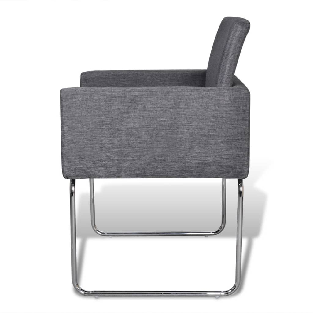 VidaXL Set Of 6 Dining Chairs Fabric Upholstery