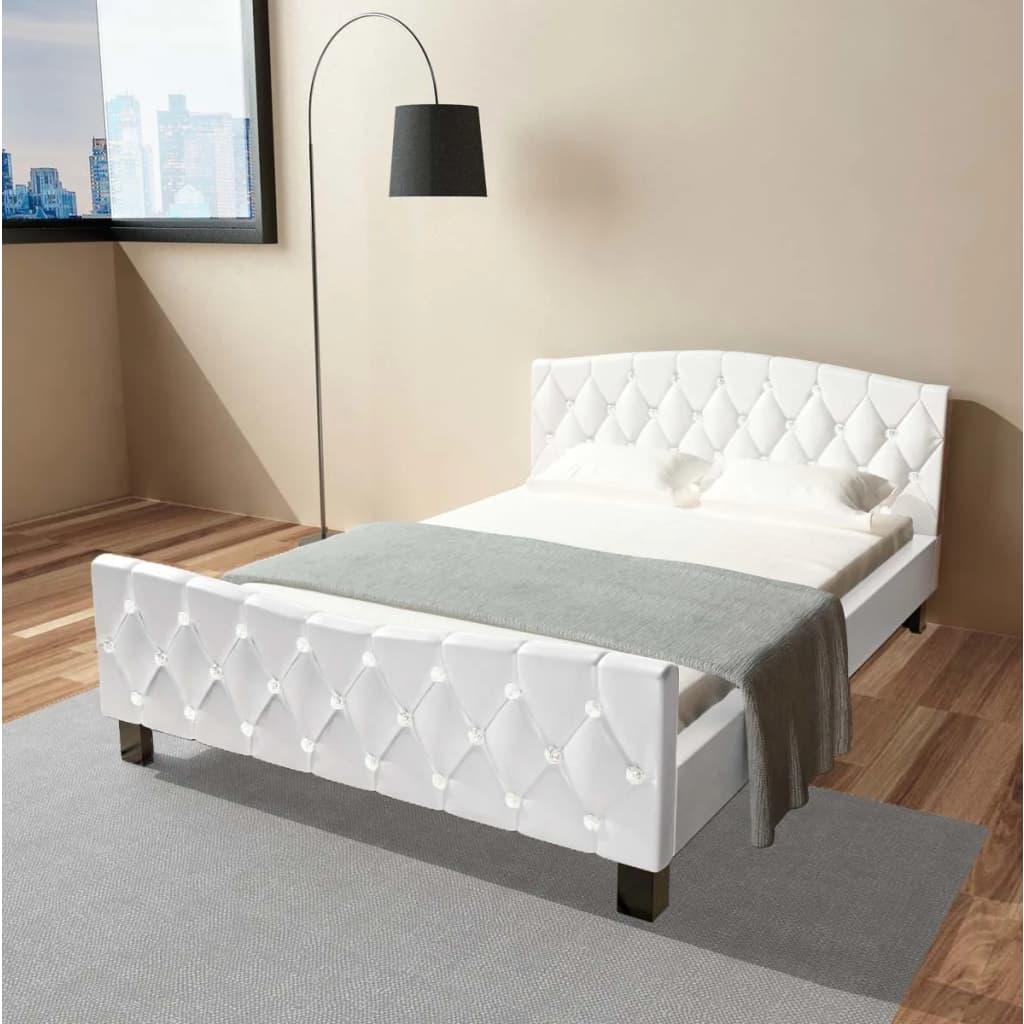 Vidaxl lit double lit adulte avec matelas 140 x 200 cm - Matelas lit double ...