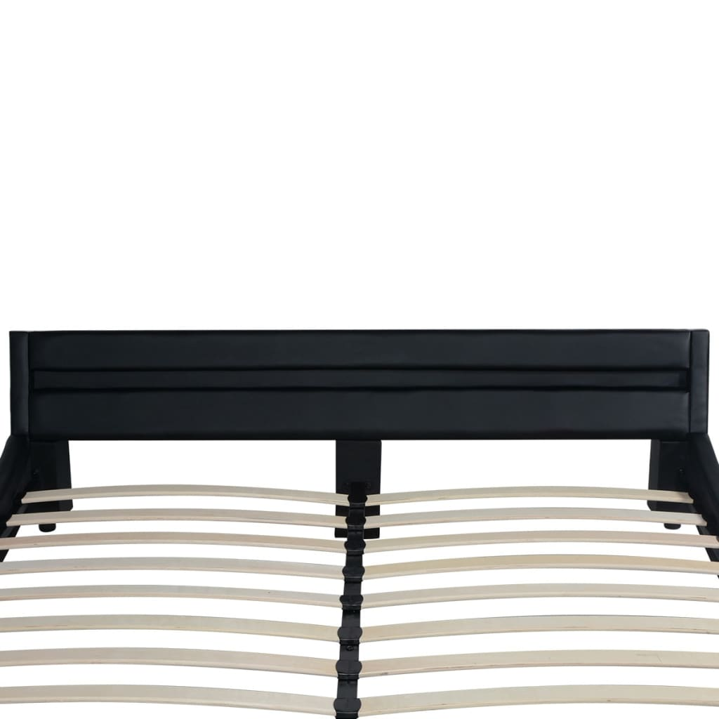vidaxl led bett matratze kunstleder 180 x 200 cm schwarz g nstig kaufen. Black Bedroom Furniture Sets. Home Design Ideas