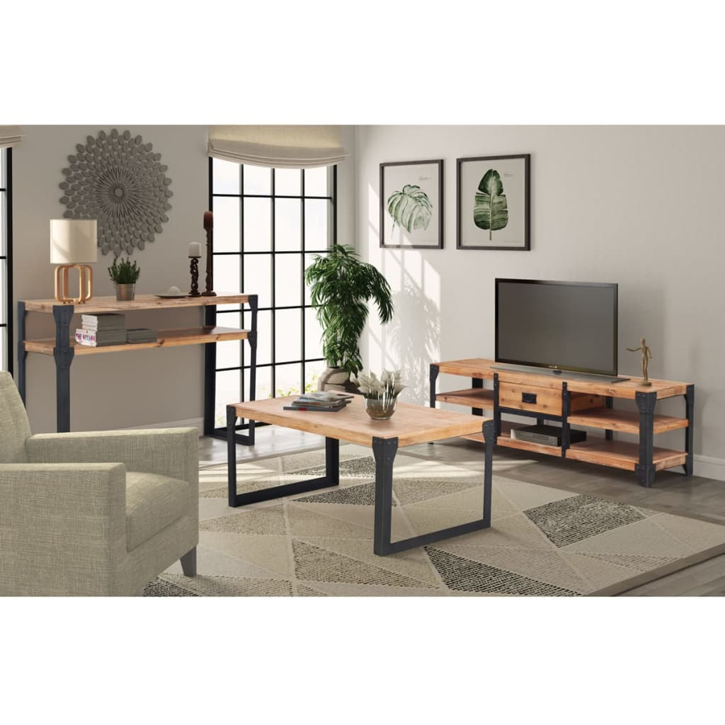vidaxl wohnzimmer m bel couchtisch tv schrank konsolentisch mehrere auswahl ebay. Black Bedroom Furniture Sets. Home Design Ideas
