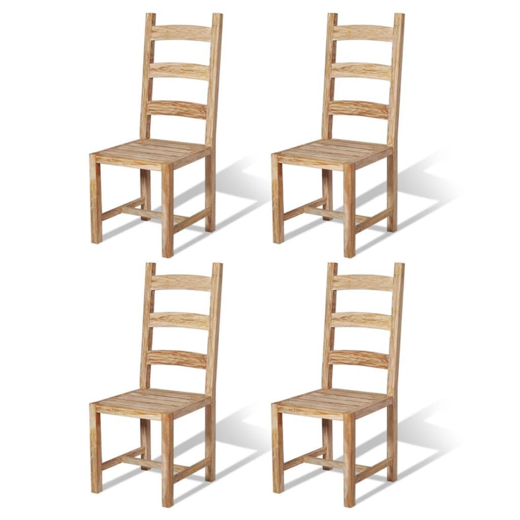 Vidaxl 2 4 6x sedie sala da pranzo legno massello teak for Sedie sala pranzo legno