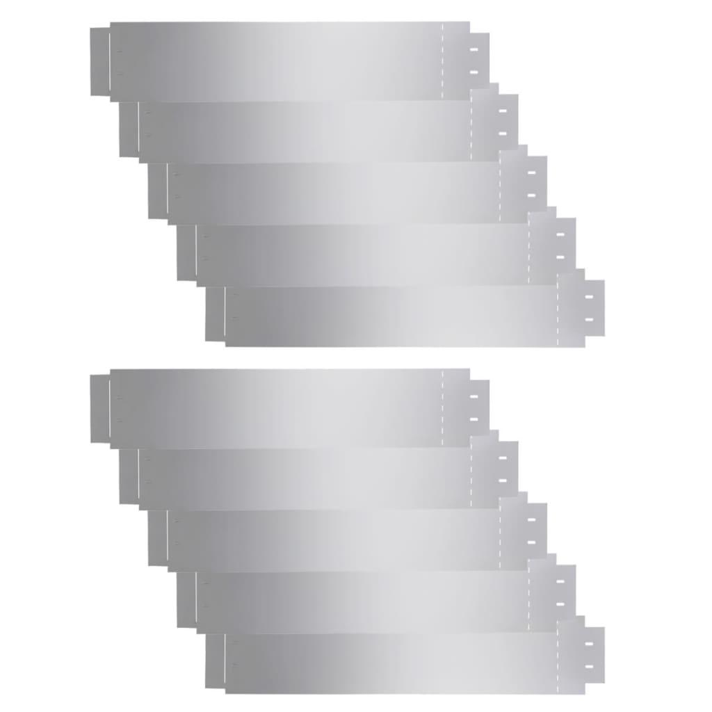Afbeelding van vidaXL Grasboorden 100x20 cm gegalvaniseerd staal 10 st