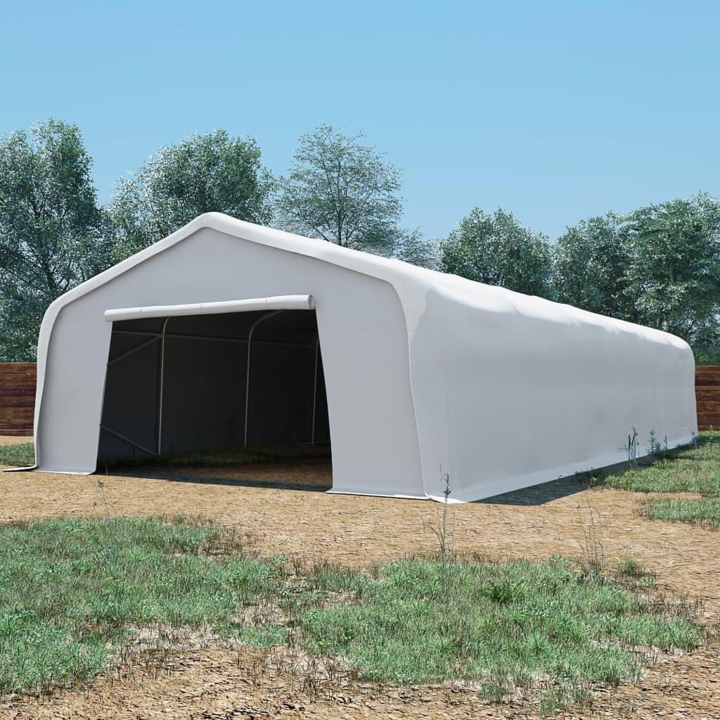 vidaXL fehér PVC kerti tároló sátor 6 x 12 m