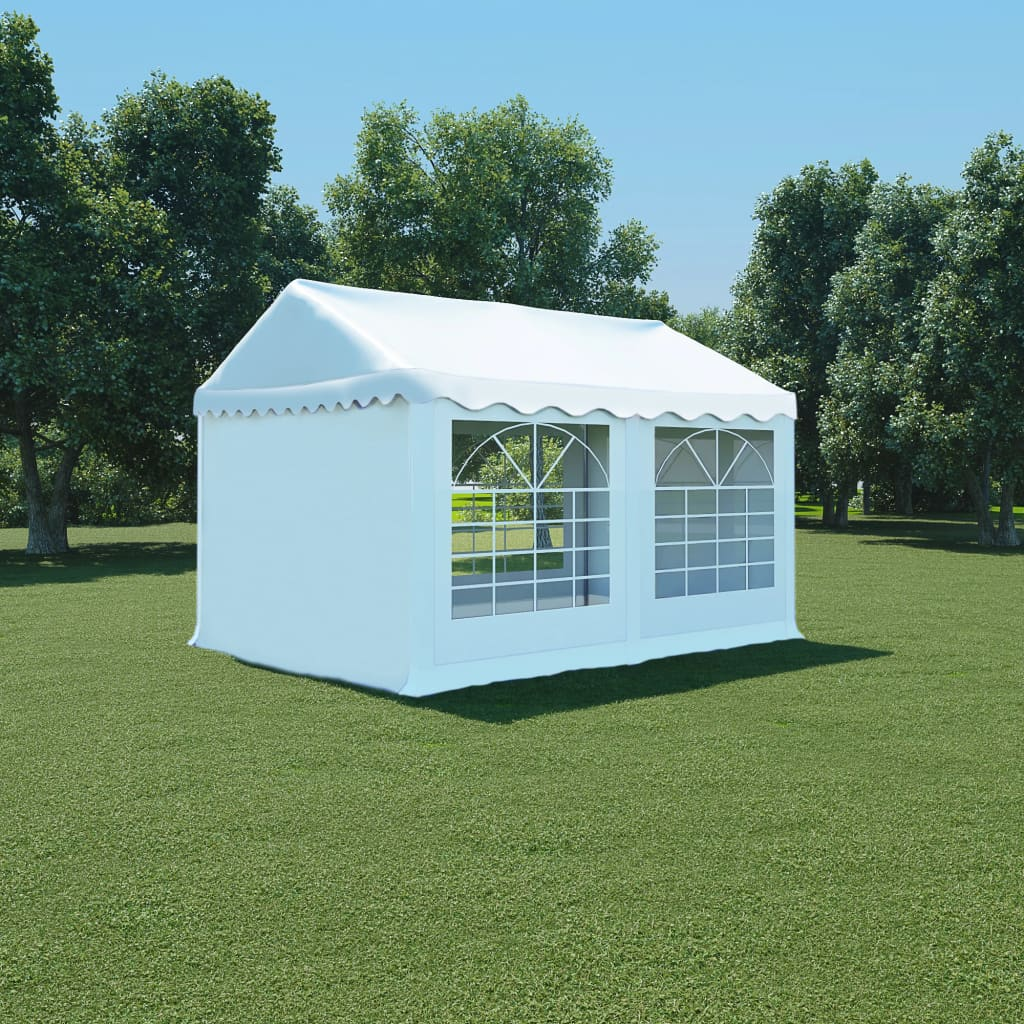 vidaXL fehér PVC kerti pavilon 3 x 4 m