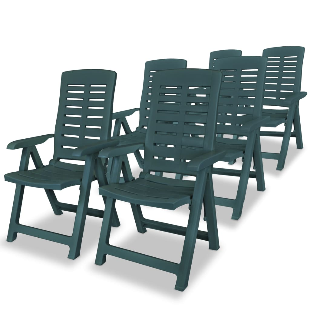 60x61x108 inclinable Jardin Chaise de cm Vidaxl 6 pcs iuOwPXkZT