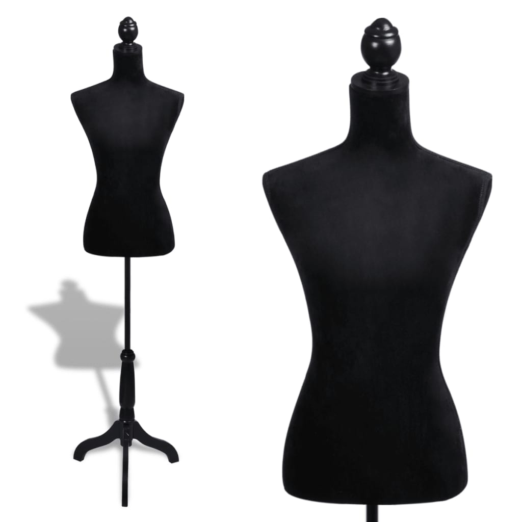 ladies bust display black female mannequin female dress. Black Bedroom Furniture Sets. Home Design Ideas