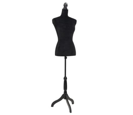 damenb ste schneiderpuppe b ste torso angezogen mannequin schwarz im vidaxl trendshop. Black Bedroom Furniture Sets. Home Design Ideas