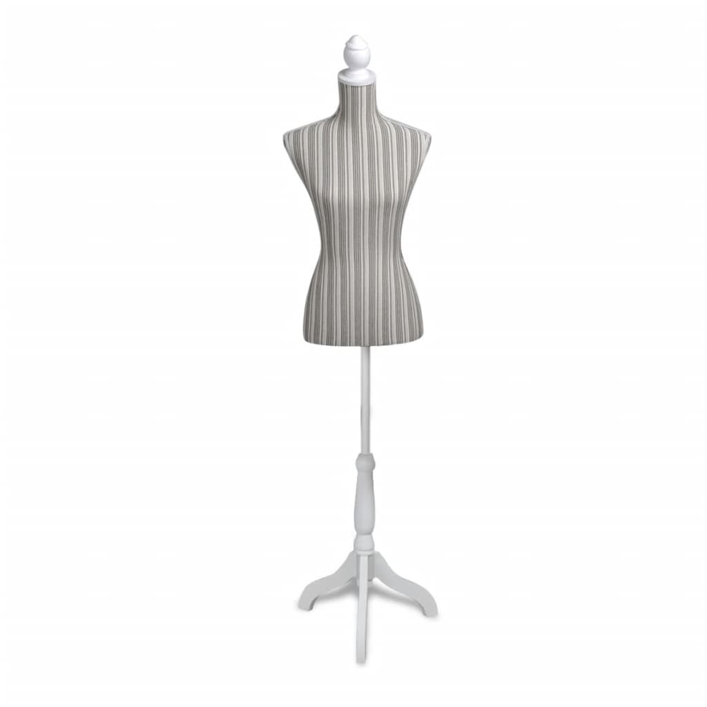 vida-xl-ladies-bust-display-mannequin-linen-with-stripes