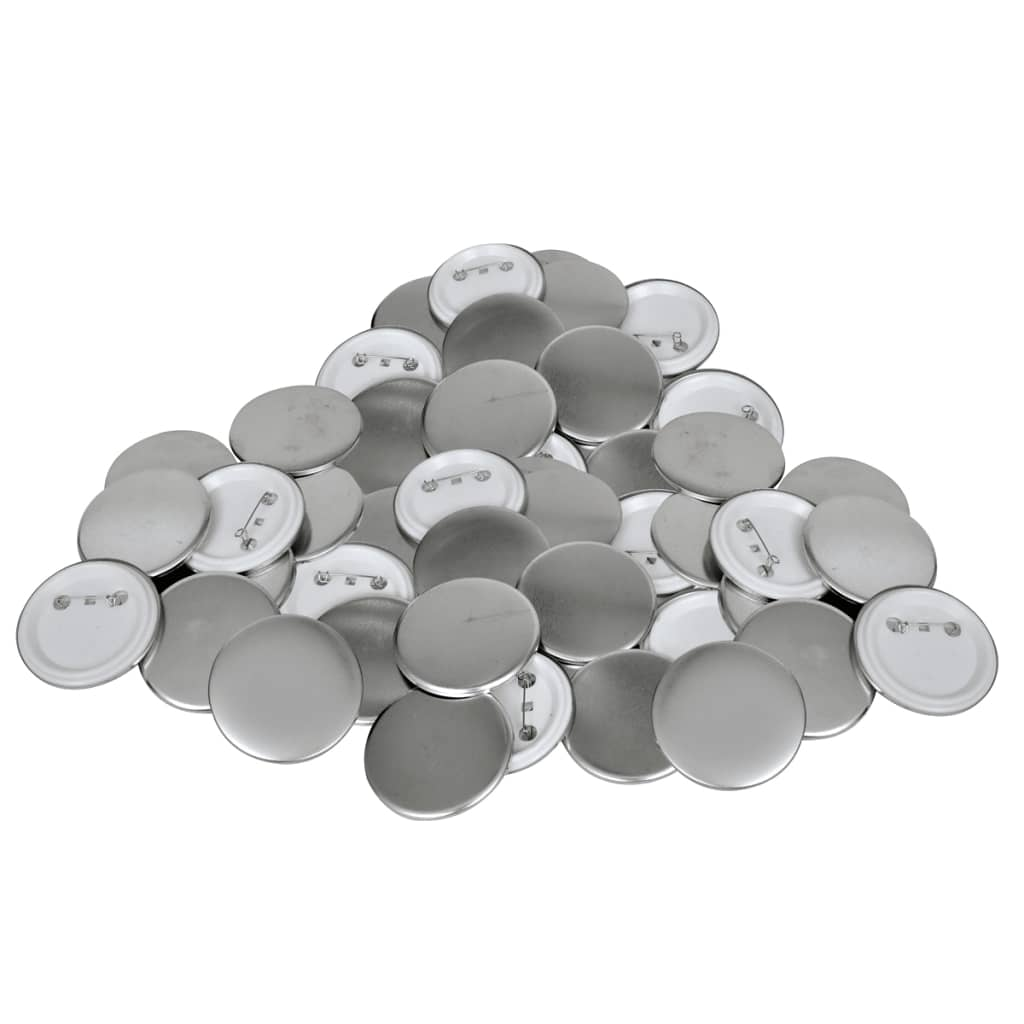 vidaXL 58 mm Pinback Button Parts 500 Sets