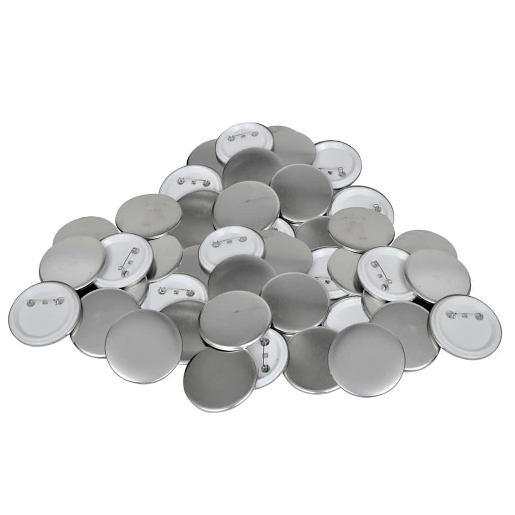 vidaXL Buttonrohlinge 58 mm 500 Stück