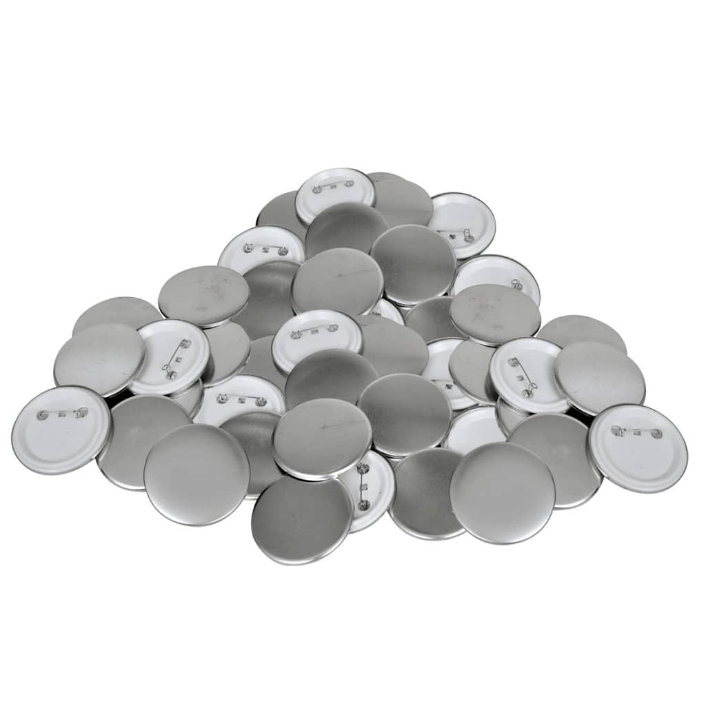 vidaXL Buttonrohlinge 44 mm 500 Stück