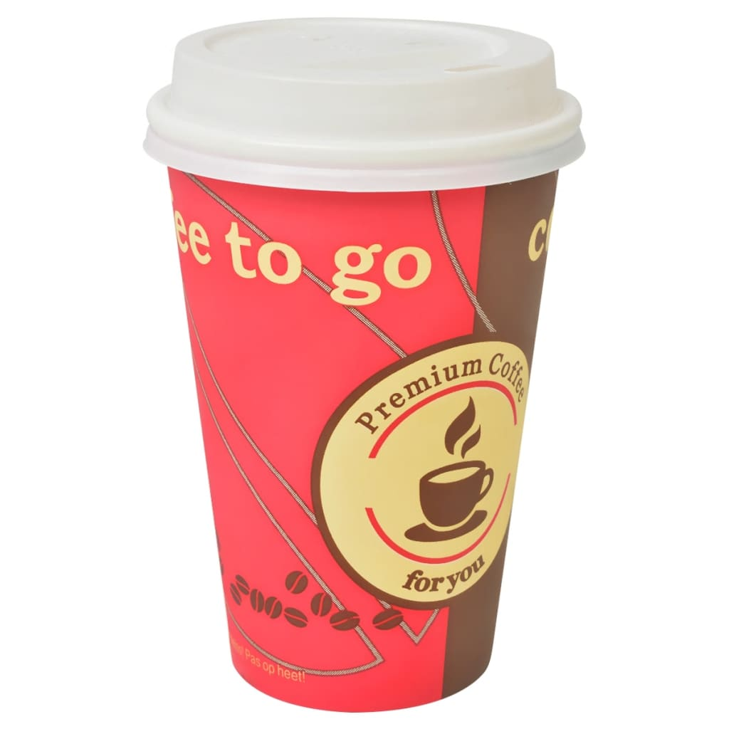 Coffee Cups With Lids : Vidaxl disposable coffee cups with lids pcs oz