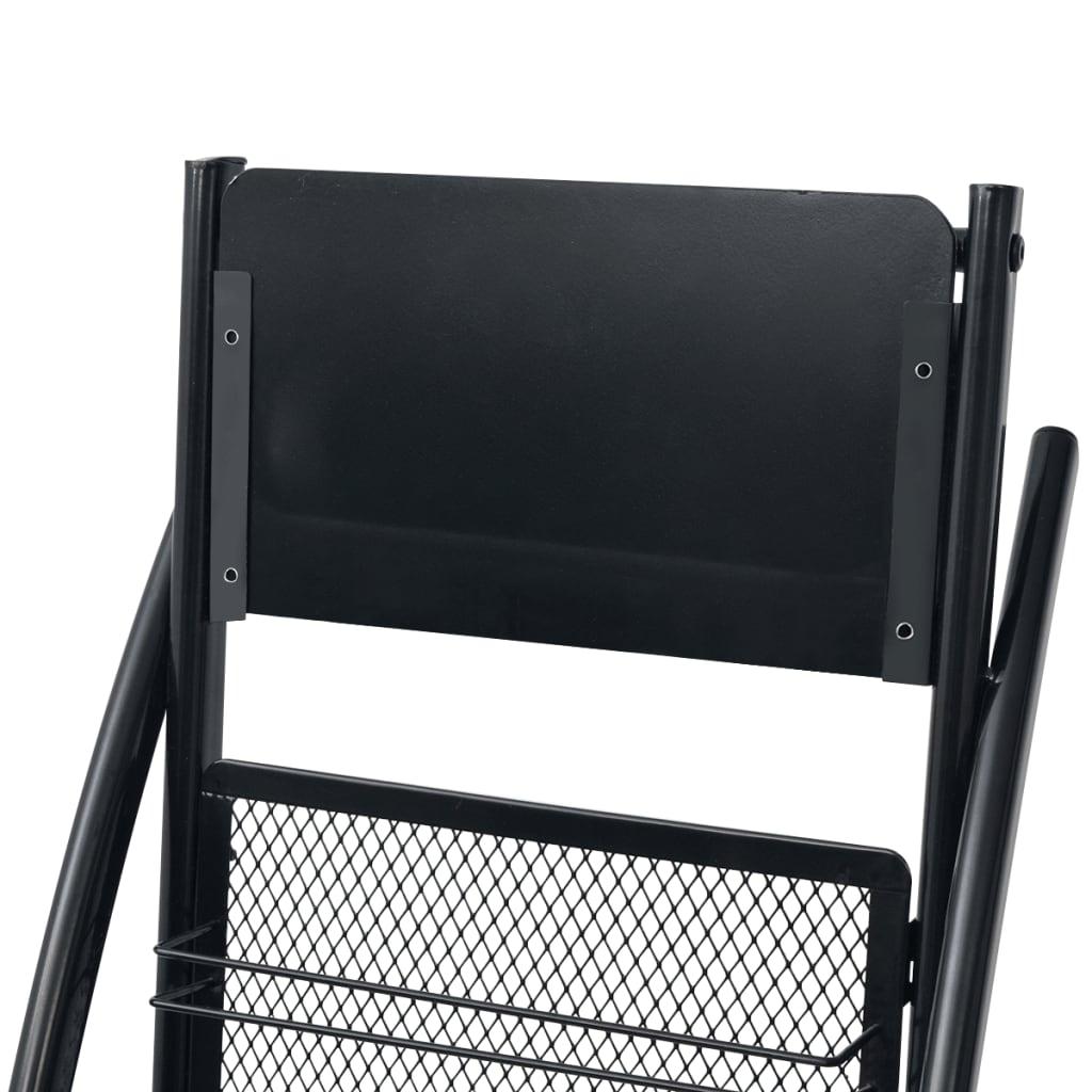 Acheter vidaxl porte revue 40 x 32 x 131 cm noir a4 pas - Porte revues pas cher ...