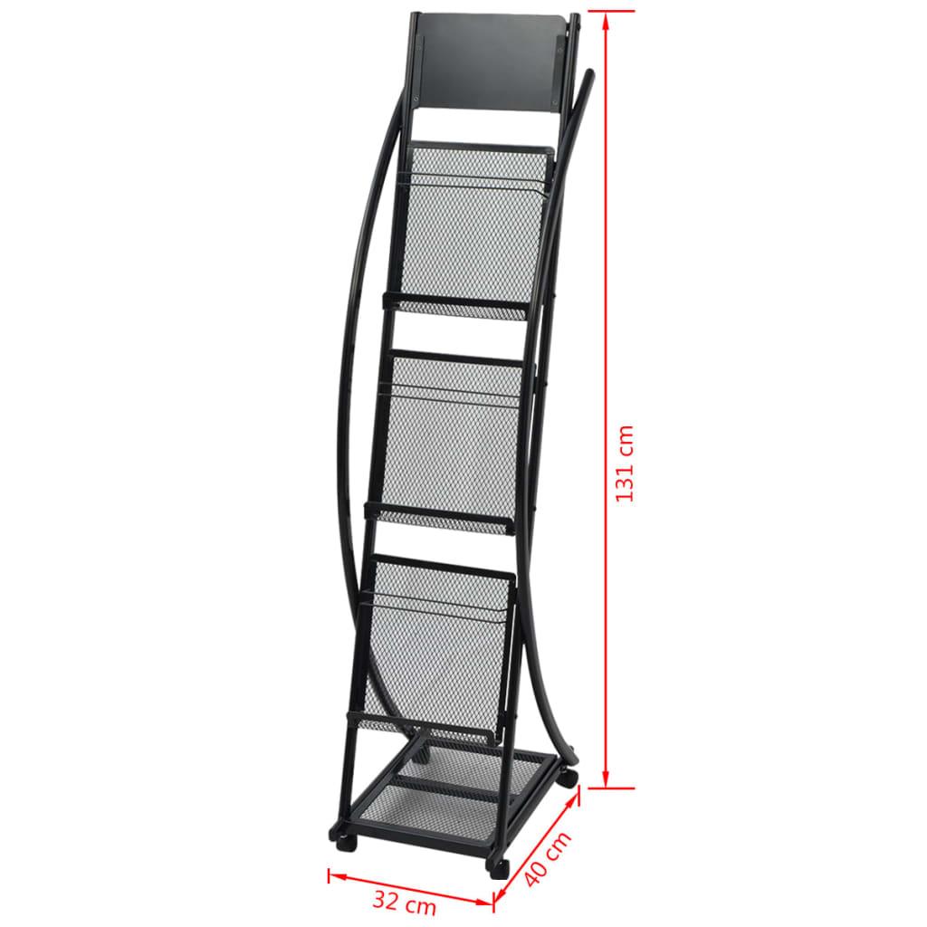 Acheter vidaxl porte revue 40 x 32 x 131 cm noir a4 pas - Porte revue pas cher ...