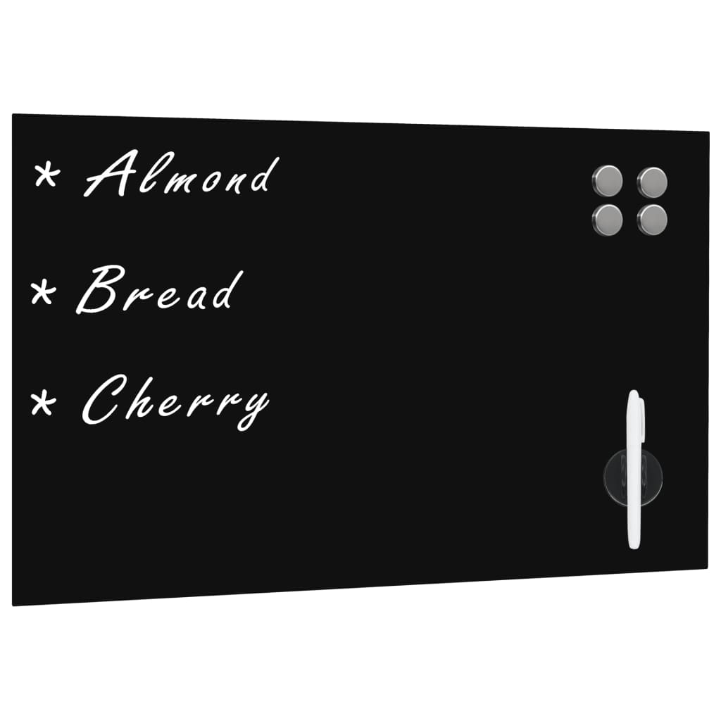 Afbeelding van vidaXL Schoolbord voor aan de wand magnetisch 60x40 cm glas