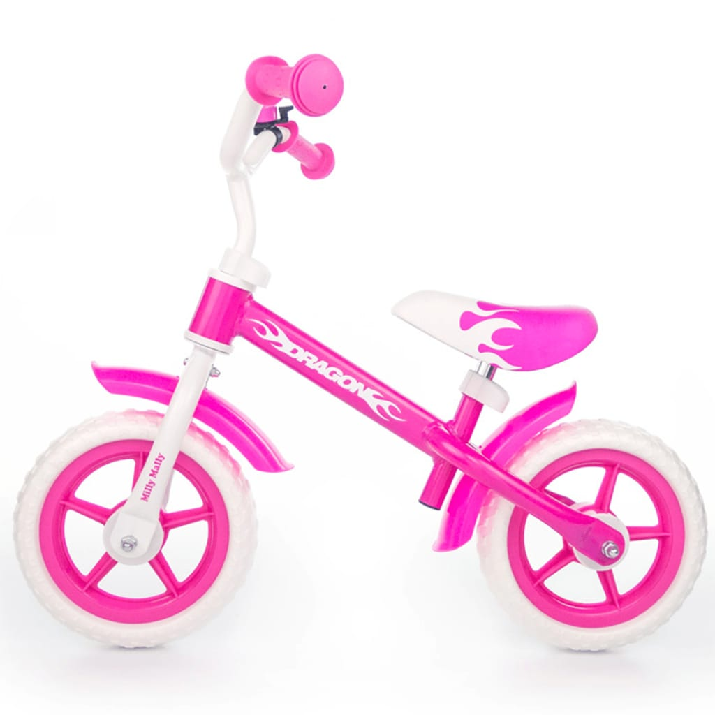 Milly Mally loopfiets Dragon roze