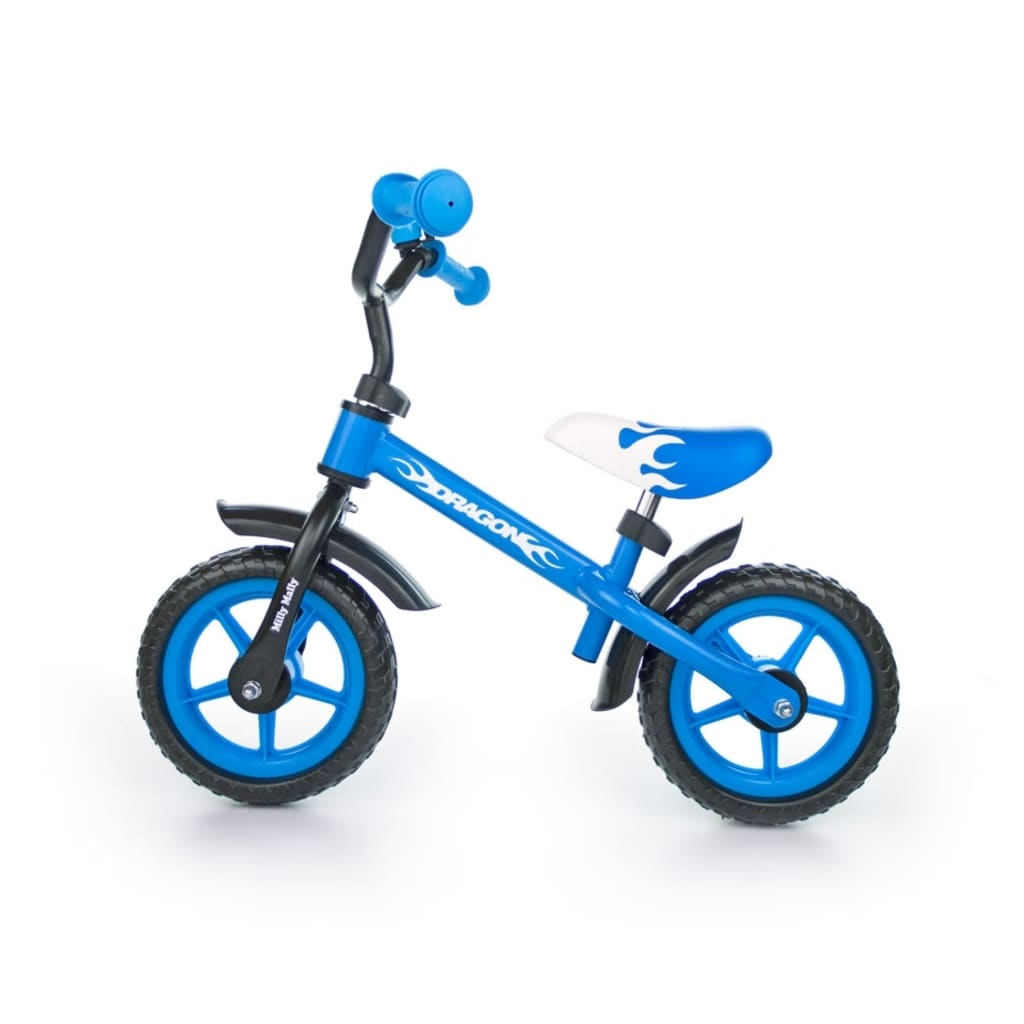 """Milly Mally Children Balance Bike Blue"""
