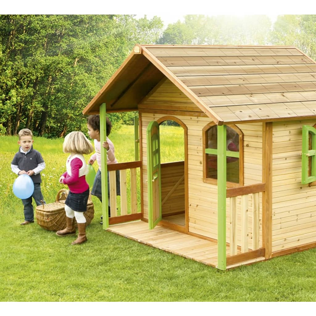 axi spielhaus milan aus holz kinderspielhaus garten 180 x 173 x 175 cm g nstig kaufen. Black Bedroom Furniture Sets. Home Design Ideas
