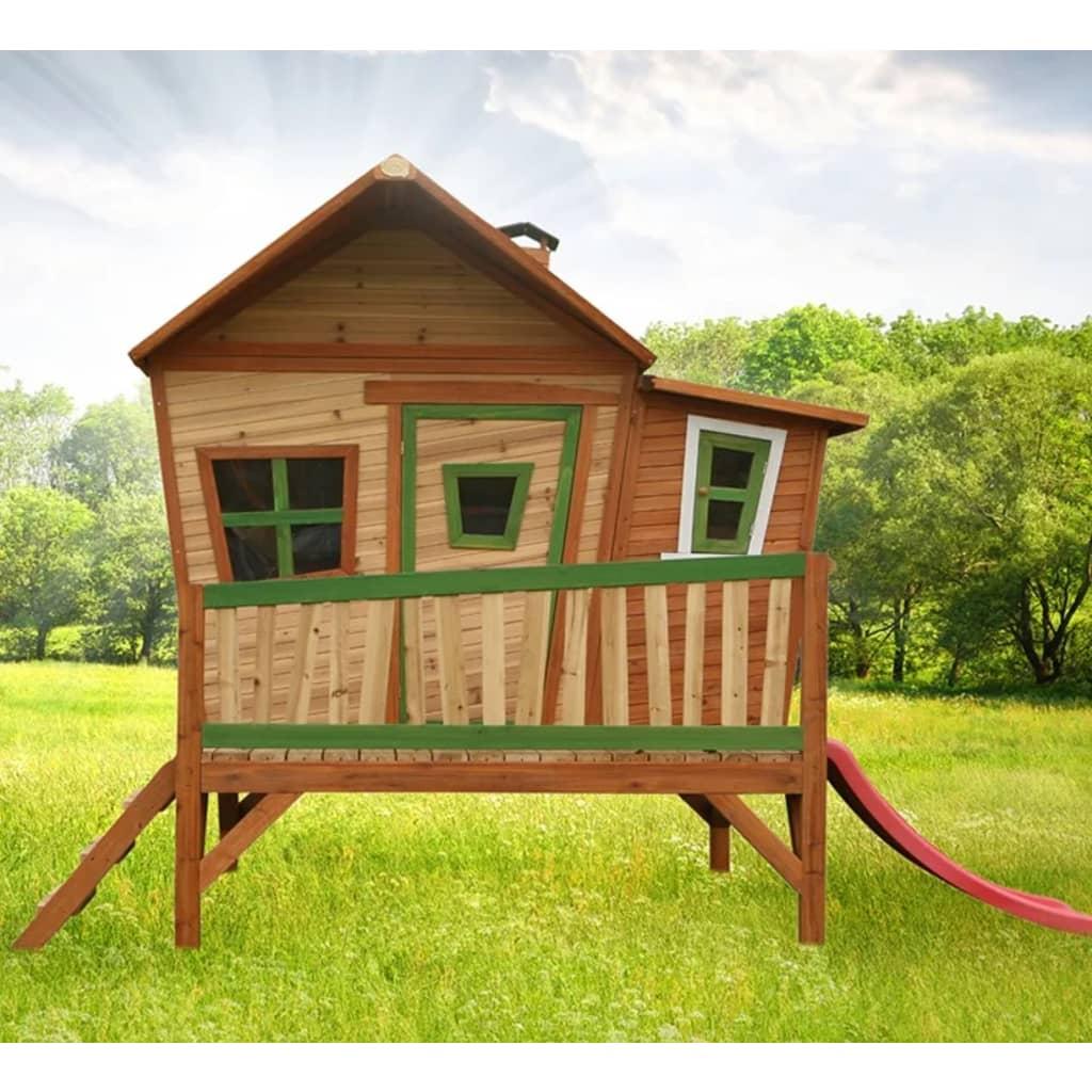 AXI Casetta Casa dei Giochi con Scivolo per Bambini in Legno da Giardino Emma