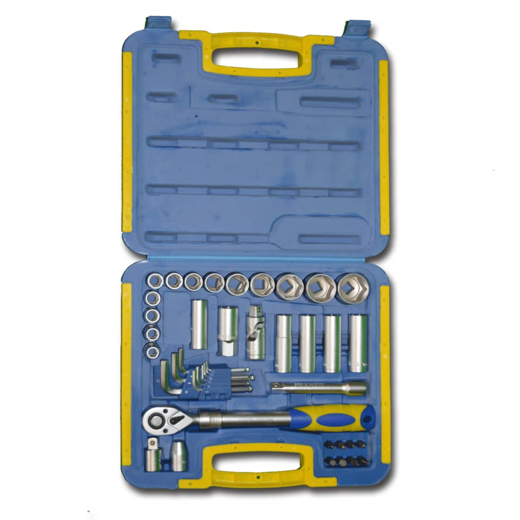 KINZO Kinzo Ratchet Wrench & Socket Bit Set with Toolbox 41 pcs