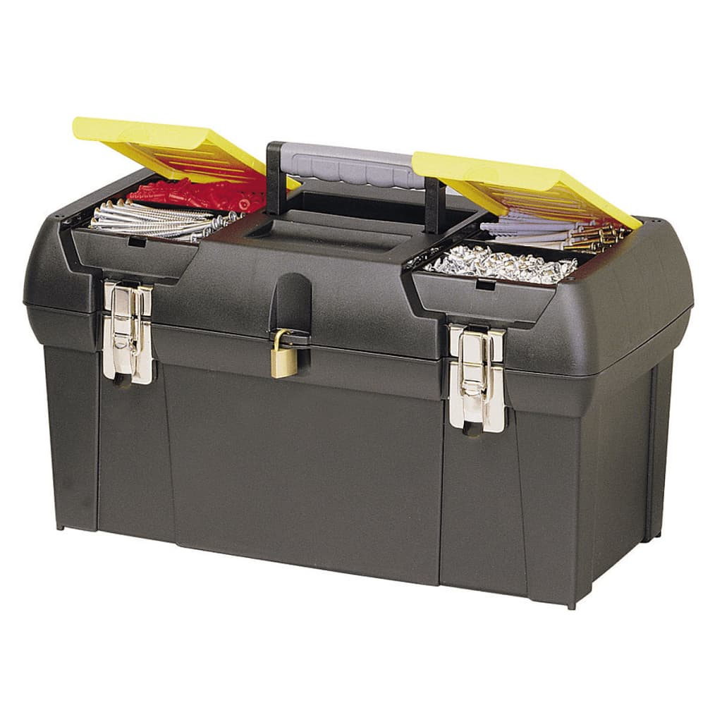 stanley 19 inch toolbox with tray. Black Bedroom Furniture Sets. Home Design Ideas