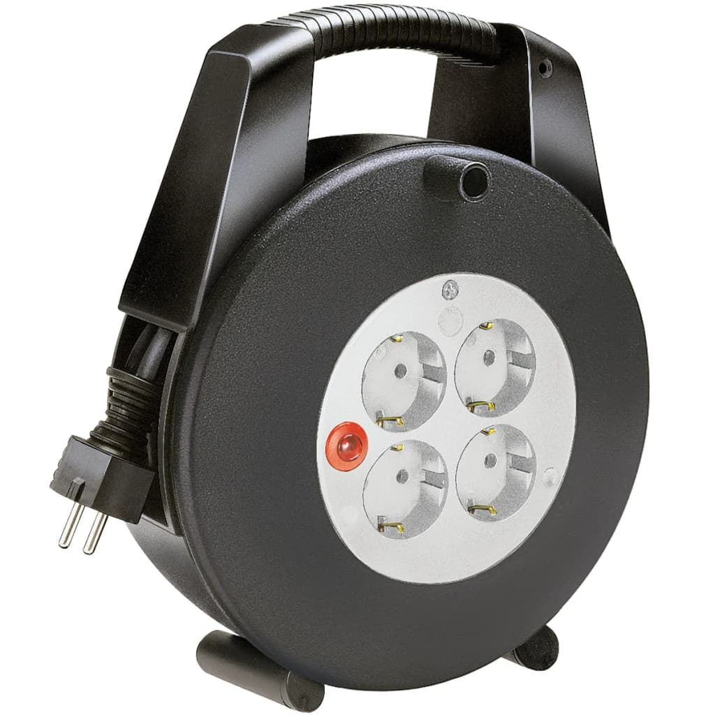 Afbeelding van Brennenstuhl Verlengkabelhaspel 15m 4 stopcontacten Zwart-Grijs