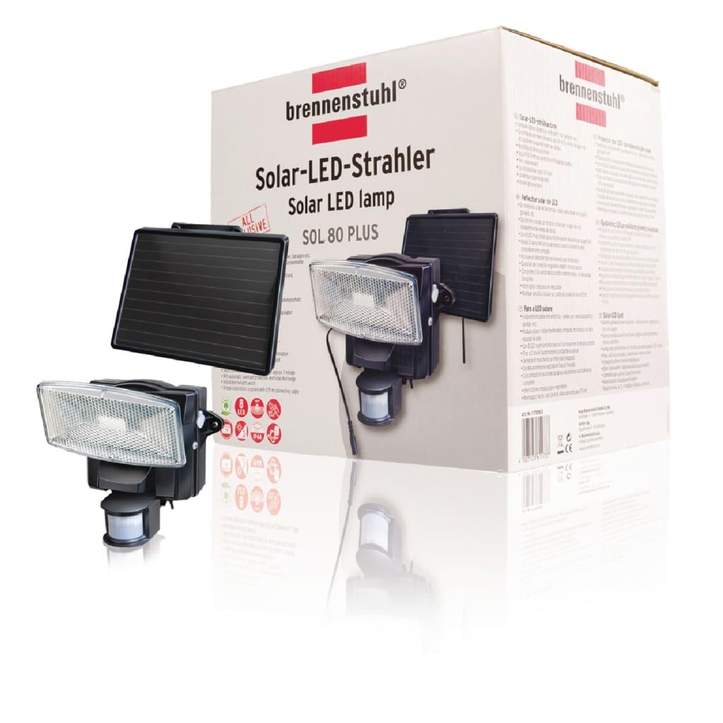 acheter projecteur solaire led d tecteur de mouvement brennenstuhl pas cher. Black Bedroom Furniture Sets. Home Design Ideas