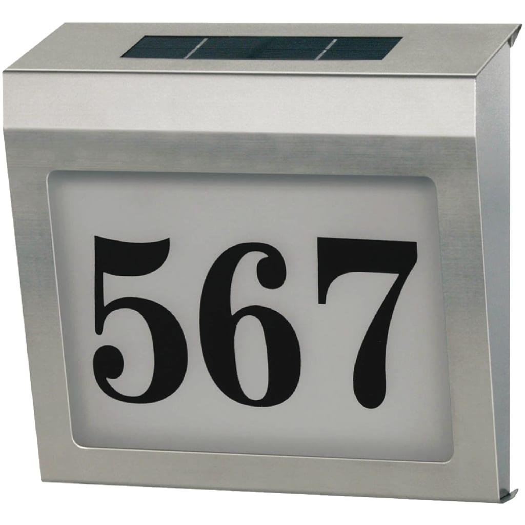 acheter plaque de num ro de maison solaire en acier inoxydable brennenstuhl pas cher. Black Bedroom Furniture Sets. Home Design Ideas
