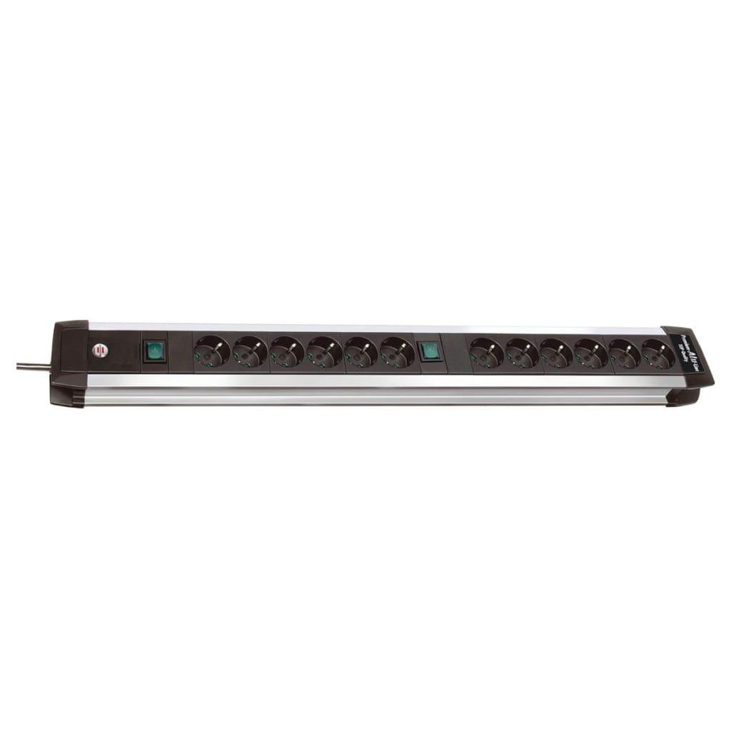 brennenstuhl premium alu line grenuttag 12x 3 m kabel svart. Black Bedroom Furniture Sets. Home Design Ideas