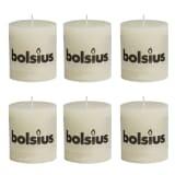 Lot de 6 bougies 80 x 68 mm ivoire Bolsius