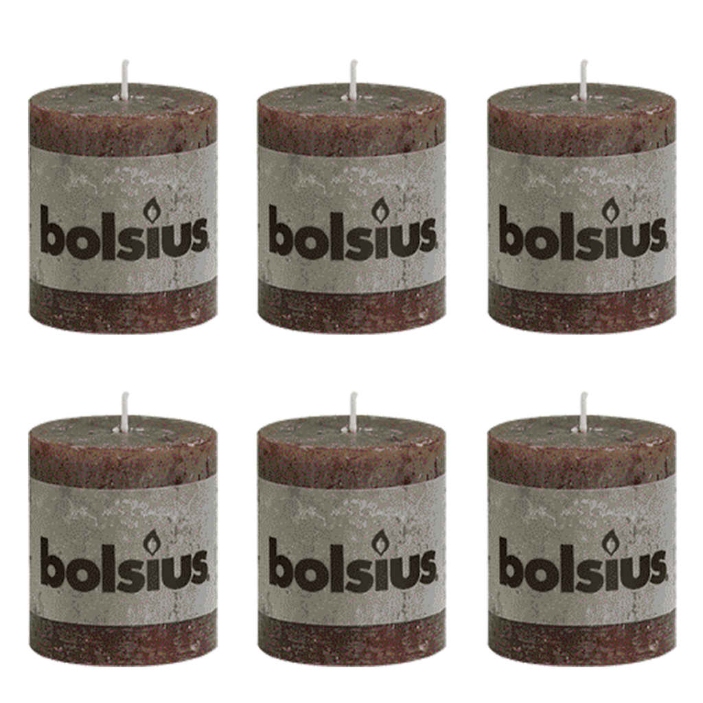 Bolsius rustic pillar candle 80 x 68 mm for Rustic house candles