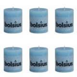Bolsius Stumpenkerze Kerzen 80 x 68 mm Wasser 6-tlg