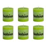 Lot de 6 bougies 80 x 68 mm vert Bolsius
