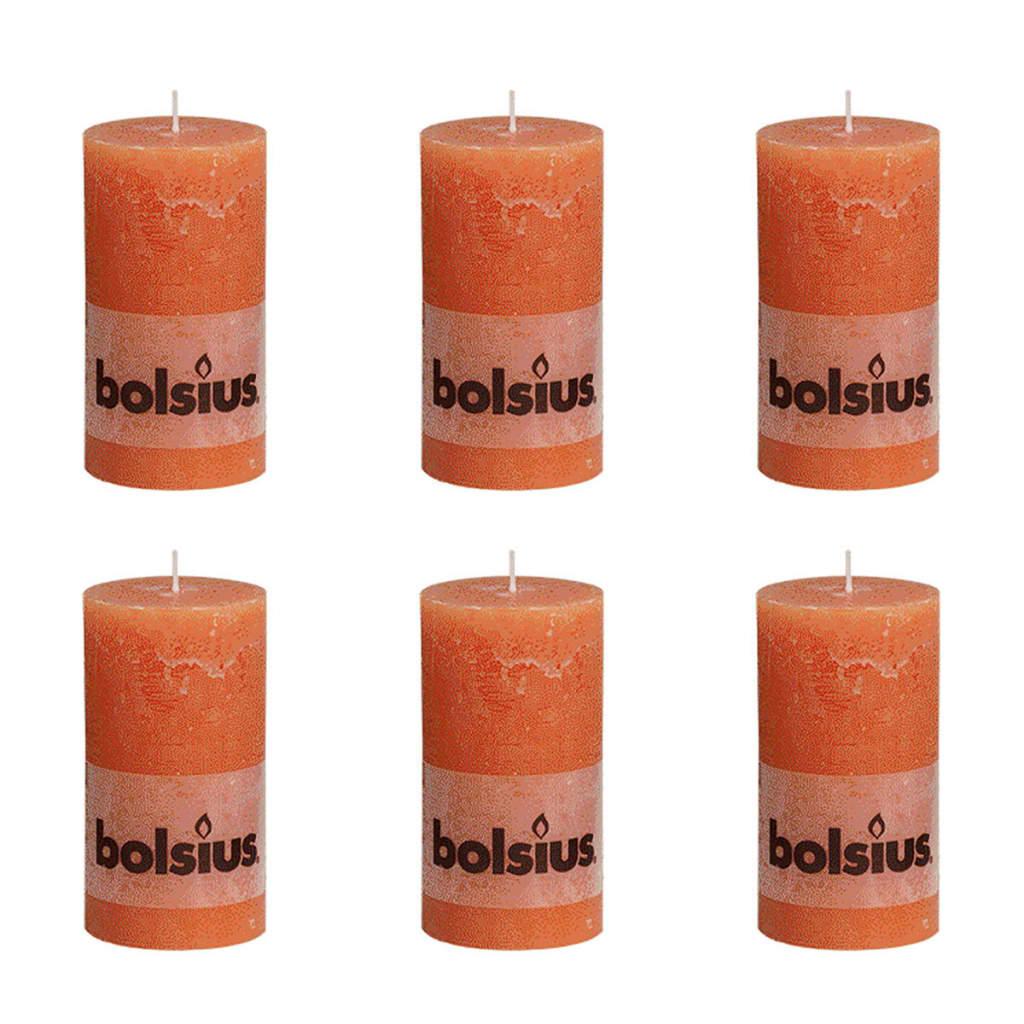 Bolsius Blockljus 130×68 mm 6-pack orange