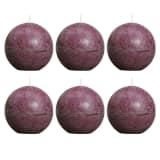 Bolsius bougie boule rustique violette 80mm 6 pièces
