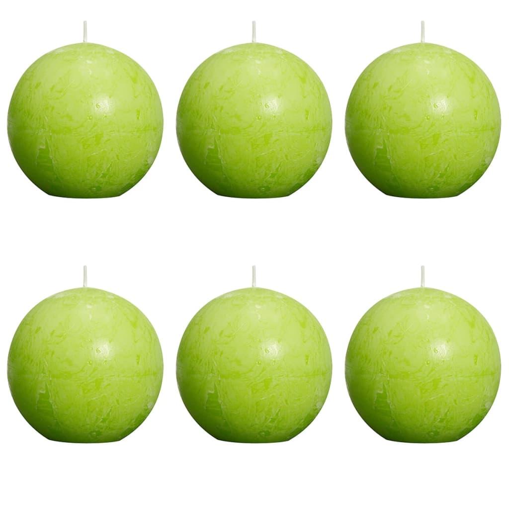 bolsius-ball-rustic-candle-lime-80mm-6-pcs-set
