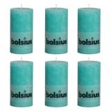 Bolsius bougie cylindre bleue 130/68 6 pcs