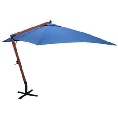 la boutique en ligne parasol d port bleu 300x400 cm. Black Bedroom Furniture Sets. Home Design Ideas