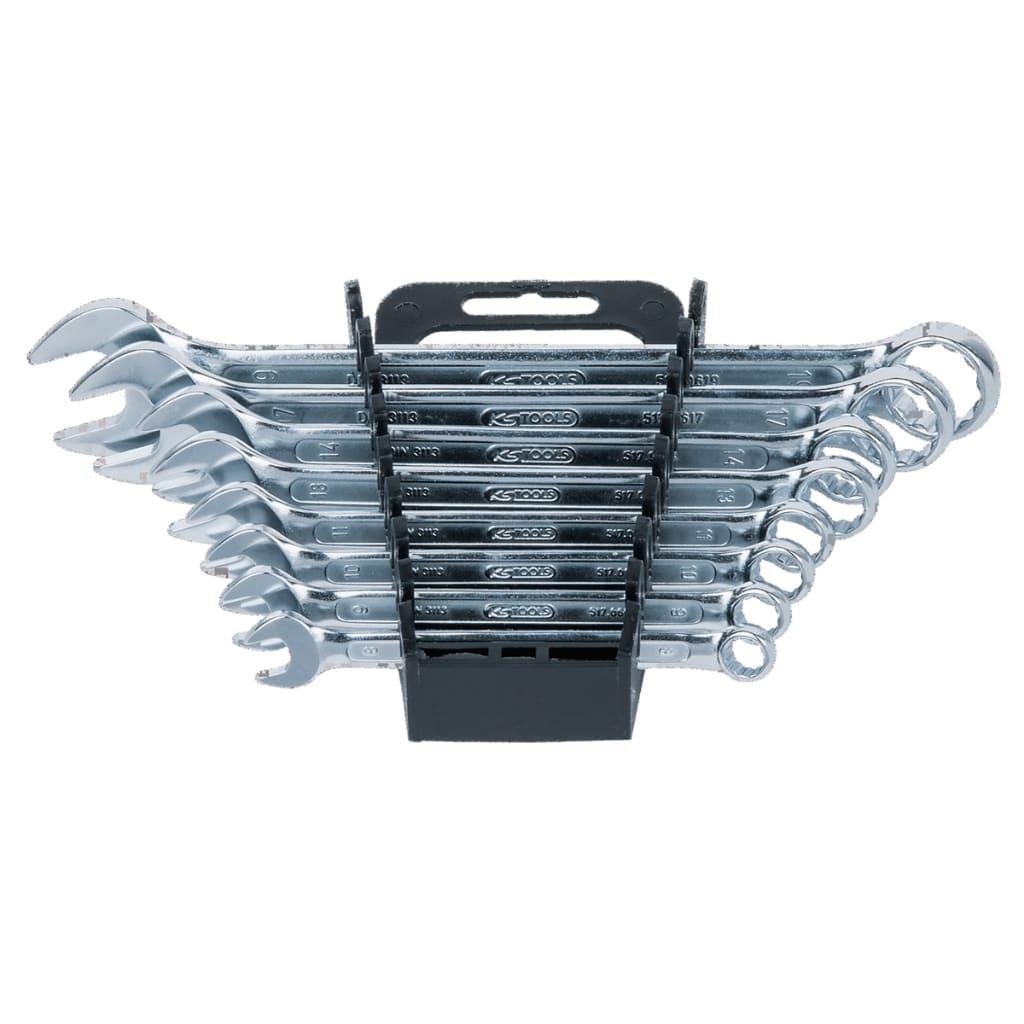 KS Tools skiftnyckel set med ställning 8 skiftnycklar mellan 8-19 mm