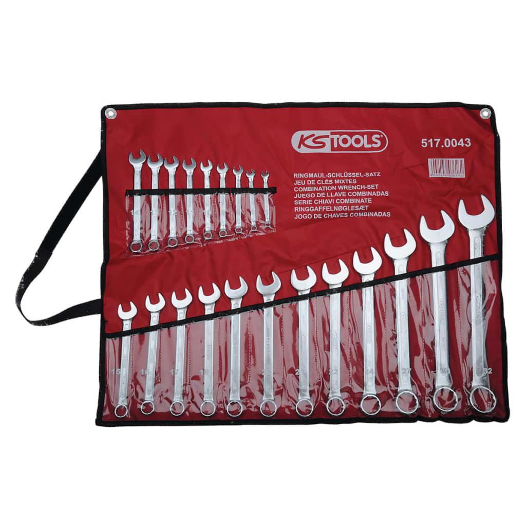 KS Tools skiftnyckel set med förvaringsväska 21 st. mellan 6-32 mm