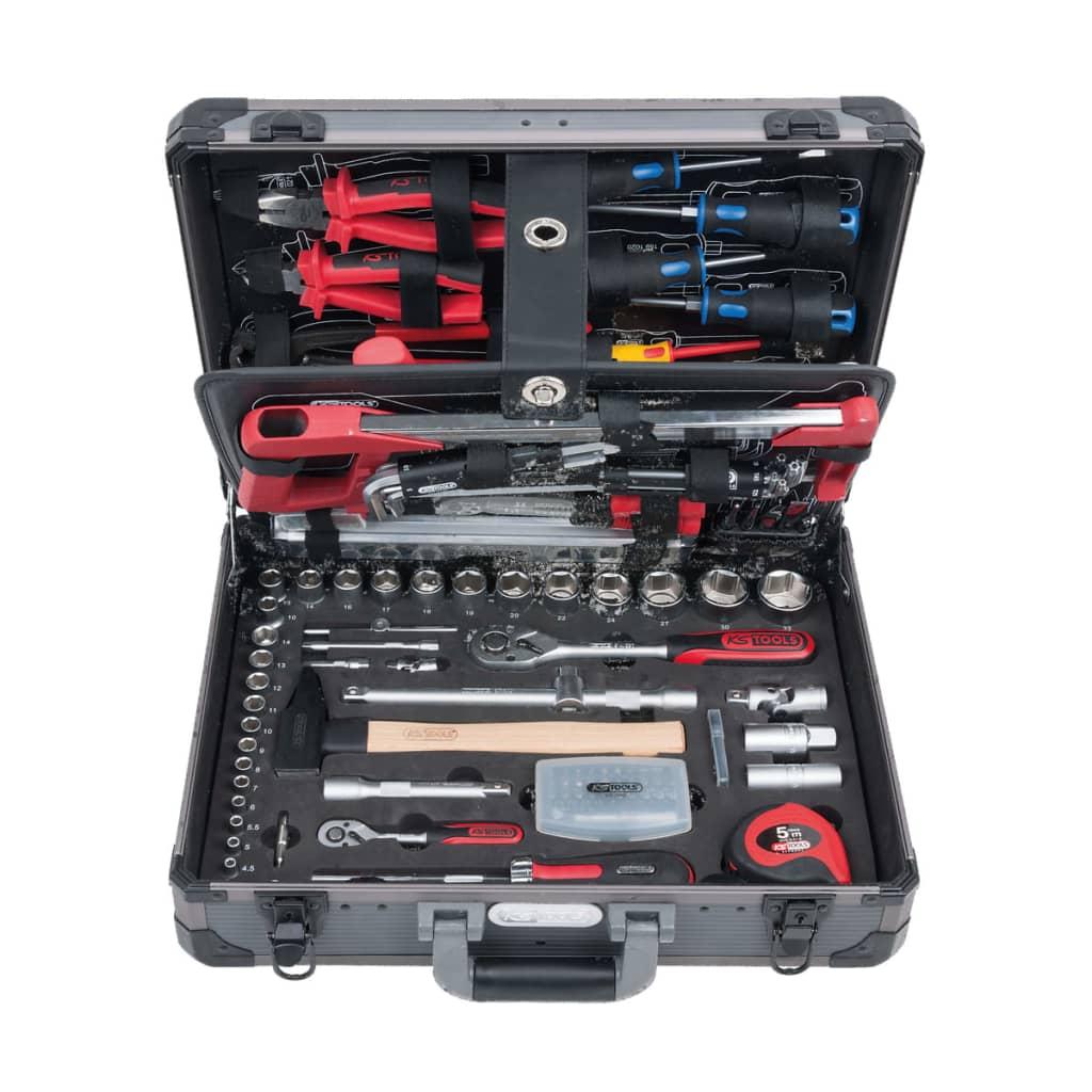 KS Tools 1/4″+1/2″SUPERLOCK verktygsset 127 delar