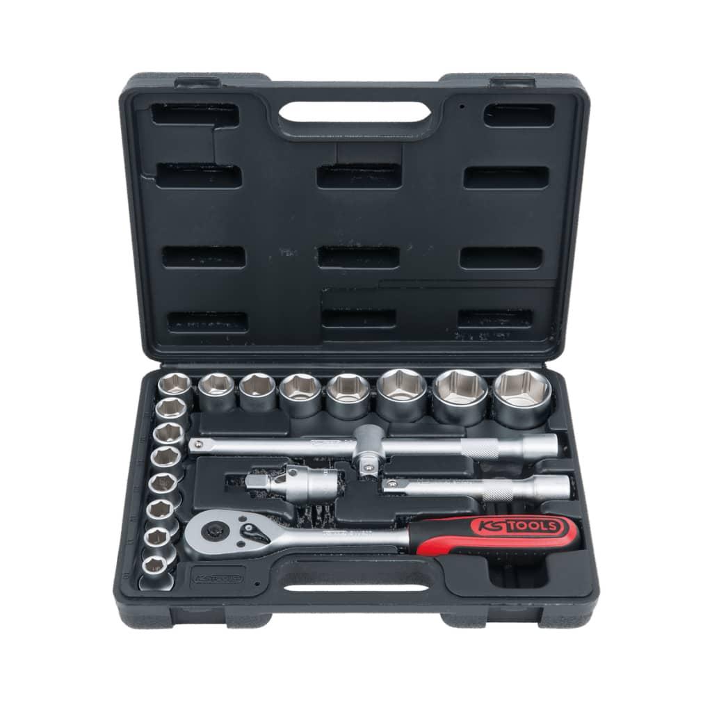 KS Tools Superlock set med hylsor 20 delar 1/2