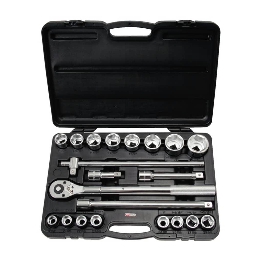 KS Tools set med 21 ratchet hylsor 3/4″