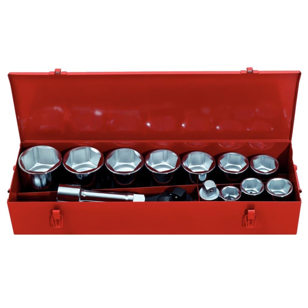 KS Tools set med 15 ratchet hylsor verktygsset 1″