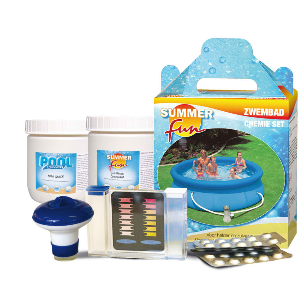 Kit de qu mica para piscina iniciantes for Kit de piscina