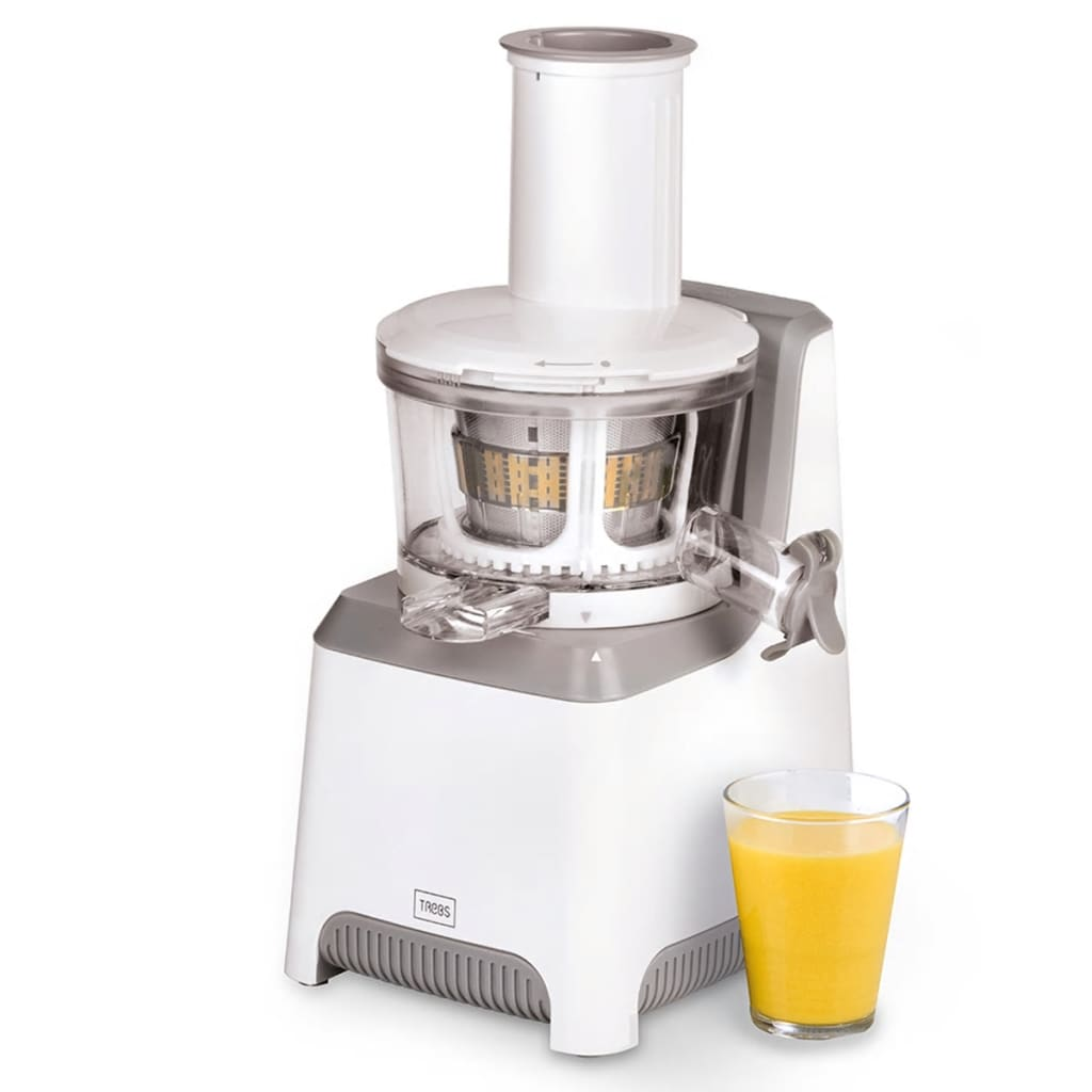 Slow Juicer With Salad Maker : vidaXL.co.uk Trebs Slow Juicer with Free Sorbet Maker Accessory