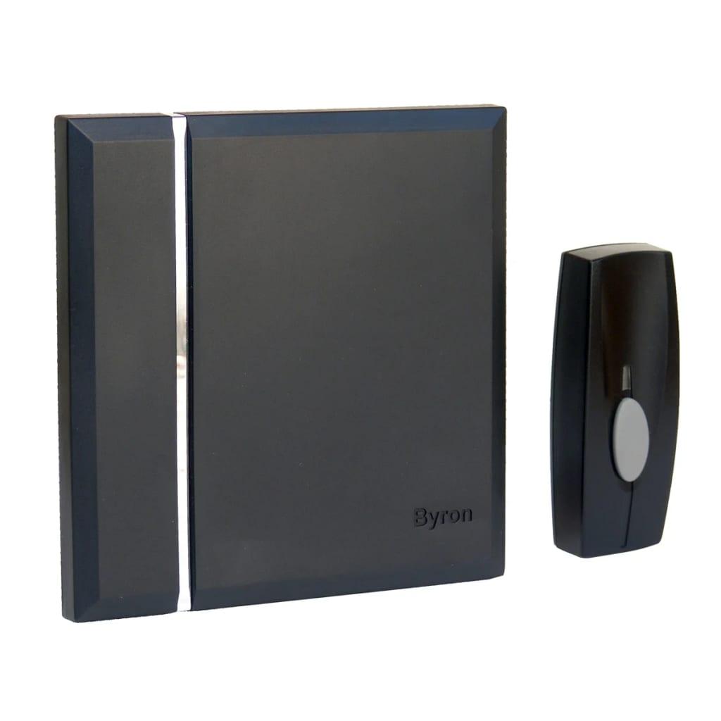 BYRON Byron Csipogó Hordozható Wireless Csengő 4 Csengőhangal Fekete